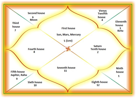 vedic astrology houses chart